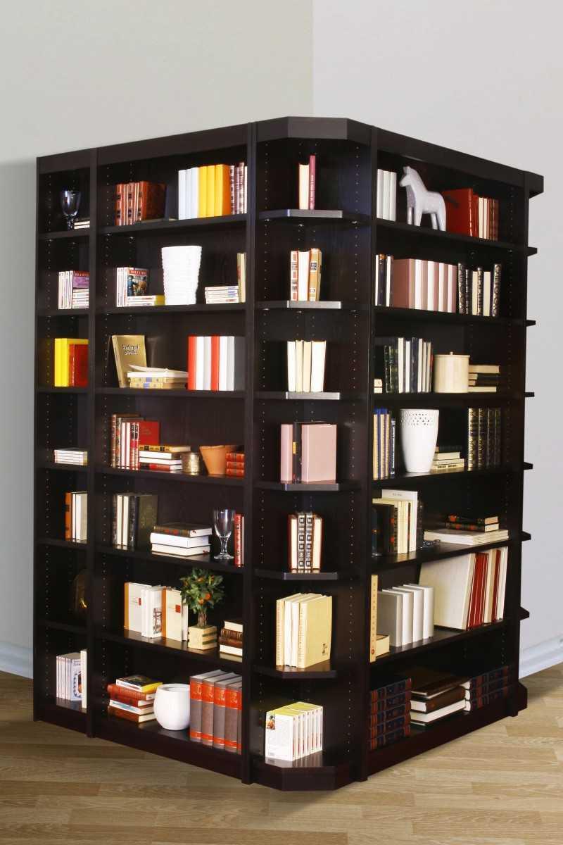 biblioth que d 39 angle. Black Bedroom Furniture Sets. Home Design Ideas